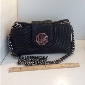 Henri bendel snakeskin leather quilted purse